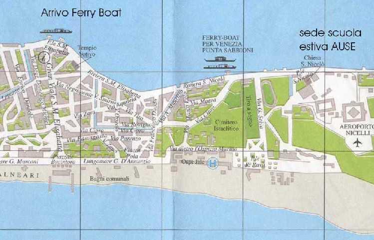 Cartina Lido Di Venezia.Centro San Nicolo Lido Di Venezia
